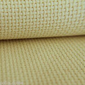 14 Count Aida  Antique Cream 50 cm x 45 cm Fat Quarter 100% Cotton