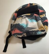 Billabong Backpack Distressed Faded Book bag Tribal Pattern Yellow Black Orange
