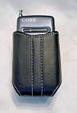 COBY CX-16 Micro Receiver AM/FM Radio with Leather Holster - Tested Great -COOL!