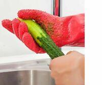 Cleaning & Peeling Gloves 2Pcs/ Pair Creative Peeled Vegetable Potato Kitch W7R6