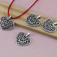 10x  Herz Form Pearls Anhänger Charms Tibetan Silber Schmuck-DIY Armband 16 S0X5