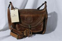 NWT Patricia Nash Brown Tooled Leather Crossbody Shoulder Handbag Purse