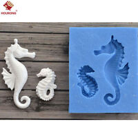 3D Sea Horse Silicone Fondant Mold Cake Border Decoration DIY Sugar Paste Mould