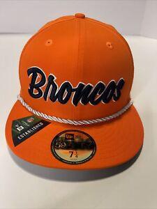 Denver Broncos NFL New Era 59fifty Established 1960 Fitted hat 7 1/4 5950 Cap