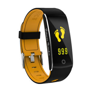 Sports Activity Fitness Tracker Heart Rate Bracelet Smart Watch for IOS Android