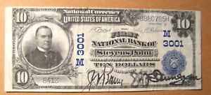 1902 (SERIES) $10 FIRST NATIONAL BANK STEVENS POINT, WI JUNE 21, 1913 VF-XF