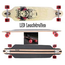 MARONAD ® Longboard Skateboard DROP THROUGH ABEC 11 LED Rollen Leuchtrollen SCUL