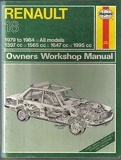Renault 18 1979-1984 petrol models Haynes Owners Workshop Manual 1985