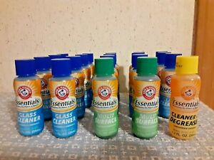 ARM & HAMMER CONCENTRATE CLEANER 20 BOTTLE LOT GLASS MULTI SURFACE & DEGREASER