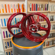 2 Motorradfelgen Motorrad Felgen pulverbeschichten Pulverbeschichtung Candy Lack