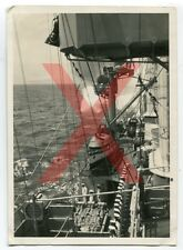 KREUZER KARLSRUHE - orig. Foto, Reisebeginn, 1930, Agfa Lupex, light cruiser
