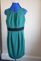 U KK KARDASHIAN KOLLECTION GREEN DRESS UK 14 RIBBON