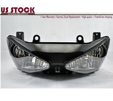 US STOCK Headlight Headlamp Clear For Kawasaki ZX-6R ZX6R ZX6 ZX636 2003 2004