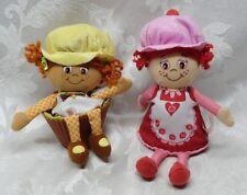 "2 JAY AT PLAY LITTLE MISS MUFFIN Cherry & Yellow Pop n Flip Plush Stuffed 9"" Rag"