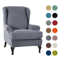 Wing Chair Cover Elastic Armchair Sofa Chair Cover Stretch Protector Slipcover ~
