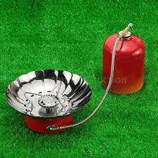 WINDPROOF GAS STOVE KITCHEN CAMPING BACKPACKING RETRACTED OVEN BURNER NEW H2A0