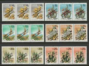 S.W.A.1978 Universal Suffrage set SG 324-329 Mnh.