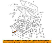 VW VOLKSWAGEN OEM 99-05 Jetta Hood-Safety Catch Latch Lock 1J5823593C01C