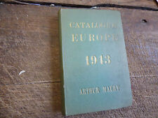 catalogue timbres poste  europe 1943 - Arthur Maury
