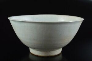 L7552: Korean L? Dynasty White glaze TEA BOWL Green tea tool Tea Ceremony