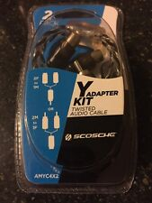 New listing Scosche Y Adapter Kit 2-Pack Twisted Audio Cable - Amyc4X2- New