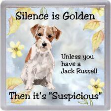 "Jack Russell Terrier Dog Coaster ""Silence is Golden Unless yo ..."" by Starprint"
