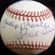 PSA/DNA MICKEY MANTLE-HANK AARON-EDDIE MATHEWS AUTOGRAPHED-SIGNED ONL BASEBALL 4