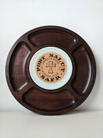 Vintage Tableware - Tropic Art - Handmade Brazilian Rare Wood CheeseBoard Cheese