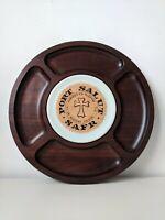 Vintage Tableware - Tropic Art - Handmade Brazilian Rare Wood CheeseBoard Cheese