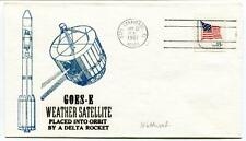 1981 Goes-E Weather Satellite Orbit Delta Rocket Cape Canaveral SPACE NASA USA