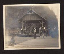 1905 IDAHO RAILROAD PLATFORM Vintage Photo