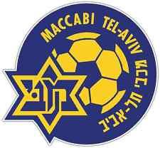 "Maccabi Tel Aviv FC Israel Football Soccer Car Bumper Sticker Decal 4.5""X4.5"""