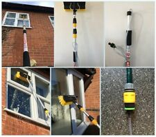 Water Fed Window Cleaning Pole Equipment, Hose Fed Window Cleaner Brush Squeegee