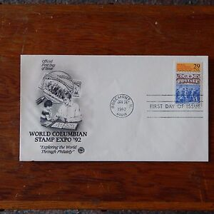 Estate Find - FDC Jan 1992 World Columbian Stamp Expo 29 Cent