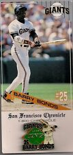 SF Chronicle Barry Bonds MVP Pin 1993 ORIGINAL PACKAGING