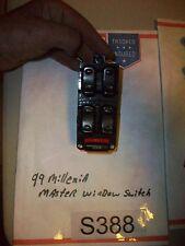 99 1999 MAZDA MILLENIA LF Left Front Drivers Master Power Window Switch OEM#S388
