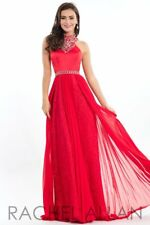 Rachel Allan Exclusive E1055 Red Stunning Pageant Prom Gown Dress sz 6 9ae7d6106