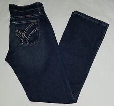 Womens wrangler q-baby no gap waistband boot cut style denim jeans sz 3/4 x 32