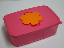 Tupperware Tuppercare Baby Wipes Dispenser High Pink & Orange Rectangular New