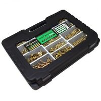 1155 PIECE HIGH PERFORMANCE WOOD SCREW KIT INCLUDING CARRY CASE POZI COUNTERSUNK