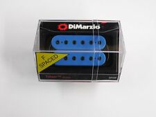 DiMarzio F-spaced Titan Bridge Humbucker Blue W/Black Poles DP 259