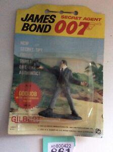 JAMES BOND vintage 1965 Gilbert figures carded rare ODDJOB,