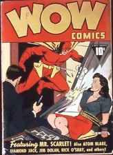 Wow Comics #1 Photocopy Comic Book, Mr. Scarlet, Atom Blake
