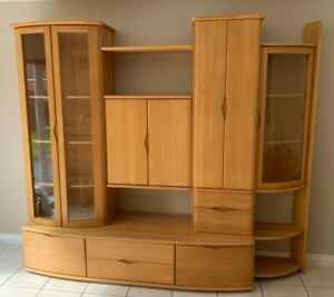 HARTMANN SOLID BEECH DISPLAY CABINET - GREAT CONDITION