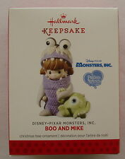 Hallmark 2013 Precious Moments Disney Monsters Inc Boo and Mike Ornament