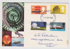 (JO-57) 1966 GB FDC 4 stamps British technology used (57BD)