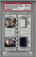 2008 Playoff Prestige Patches LL16 Tom Brady / Favre / Brees / Romo PSA 10! POP1