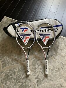 2 New Tecnifibre TFight 305 grip 4 3/8 with 9 pack Racquet Bag