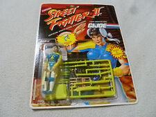 NEW ON CARD STREET FIGHTER II GI JOE FIGURE CHUN LI KUNG FU FIGHTER CAPCOM 1993