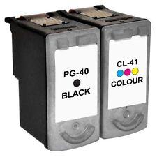 Black & Colour PG-40 CL-41 Ink Cartridges for Canon Printers REMANUFACTURED